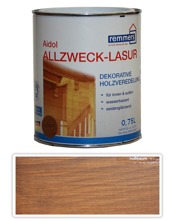 Remmers Aidol Allzweck Lasur 0.75l Ořech
