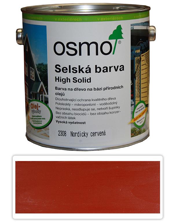 Selská barva OSMO 2.5l Nordicky červená