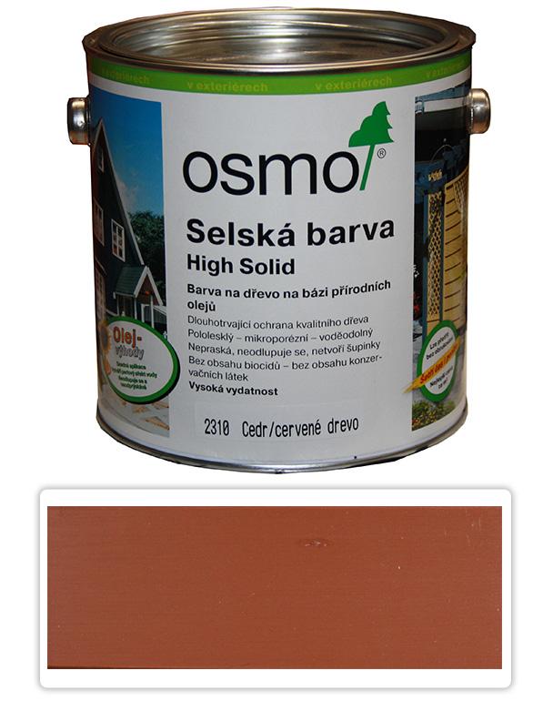Selská barva OSMO 2.5l Cedr-červená