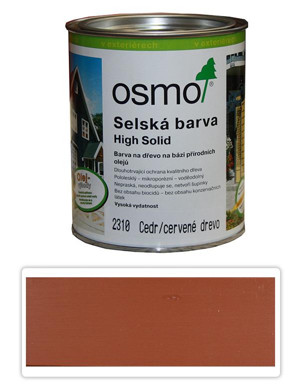 Selská barva OSMO 0.75l Cedr-červená