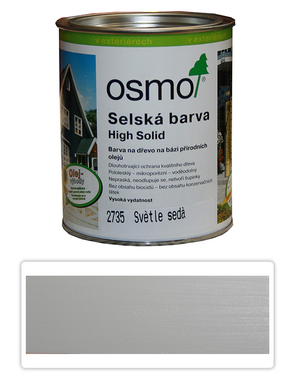 Selská barva OSMO 0.75l Světle šedá