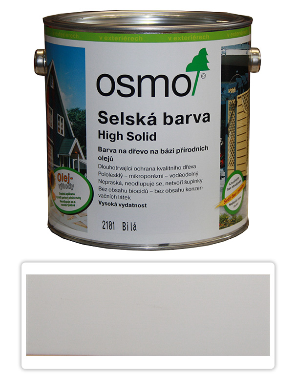 Selská barva OSMO 2.5l Bílá