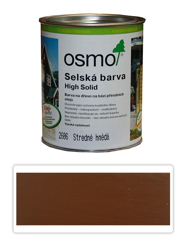 Selská barva OSMO 0.75l Středně hnědá