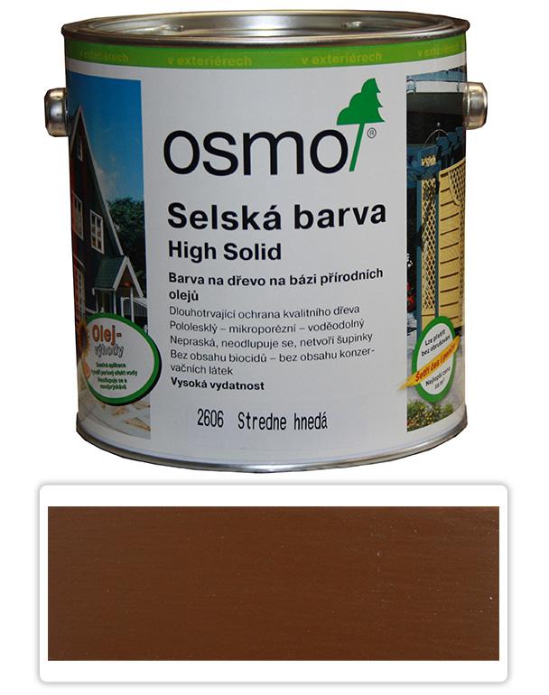 Selská barva OSMO 2.5l Středně hnědá