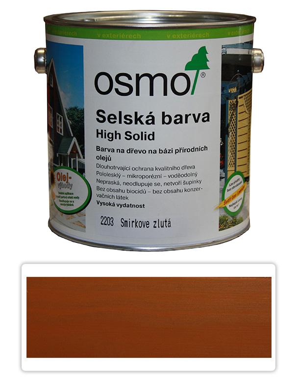 Selská barva OSMO 2.5l Žlutý smrk