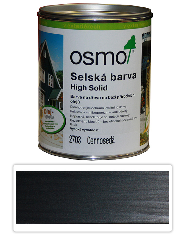 Selská barva OSMO 0.75l Černošedá