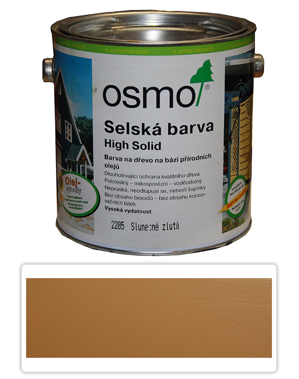Selská barva OSMO 2.5l Slunečně žlutá