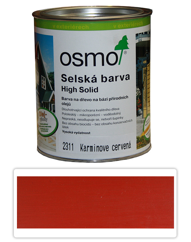 Selská barva OSMO 0.75l Karmín. červeň