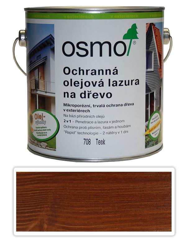 Ochranná olejová lazura OSMO 2.5l Teak