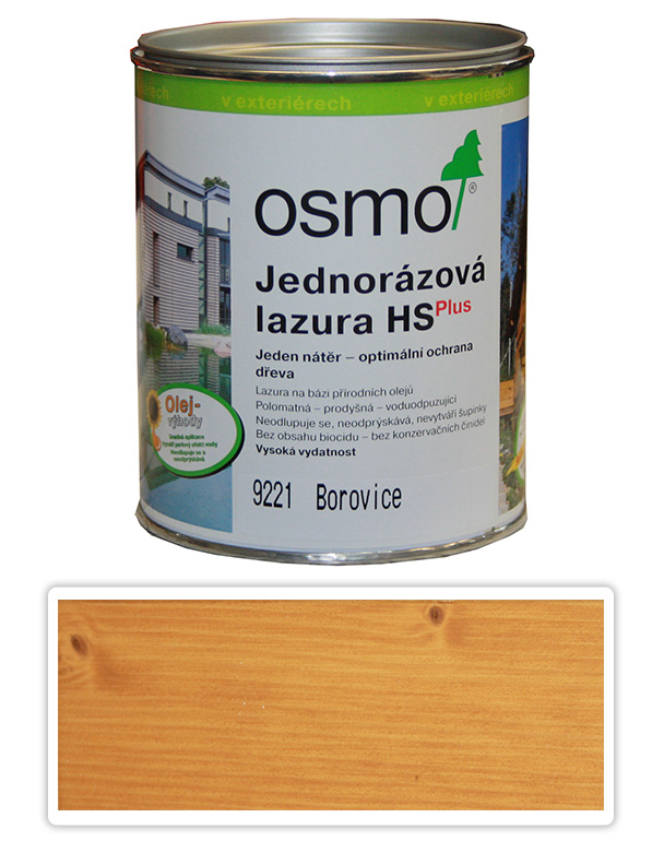 Jednorázová lazura HS OSMO 0.75l Borovice