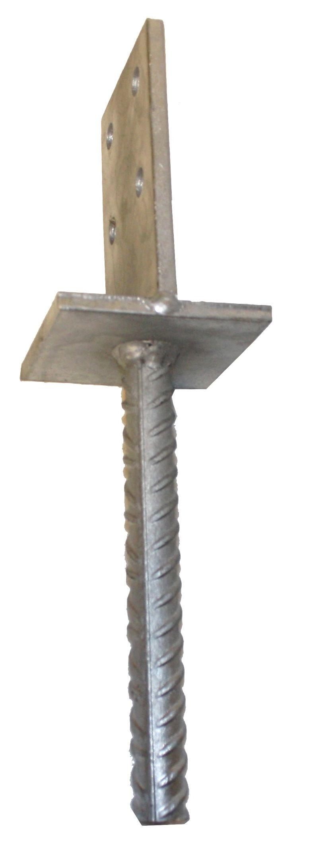 HAŠPL Kotevní patka do betonu 90x90x8mm typ T