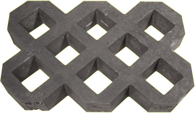 Plastová zatravňovací dlažba Transform VD600+, 600x400x60mm, šedá – recyklát
