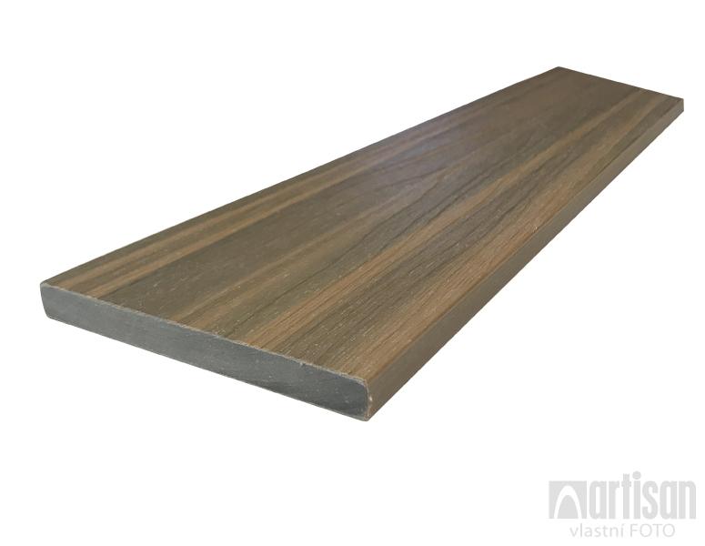 WPC dřevoplastová prkna na plot Dřevoplus Profi 15x138x4000 - Teak