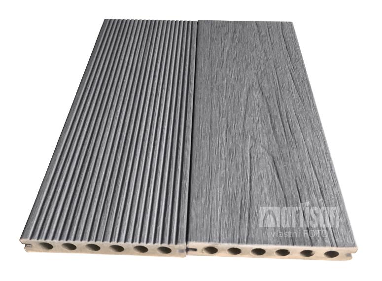 WPC dřevoplastová terasová prkna - Dřevoplus prkno PROFI 23x138x4000 Grey (šedá)