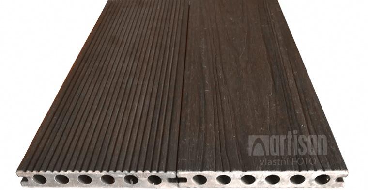 WPC dřevoplastová terasová prkna Dřevoplus Profi 23x138x4000, Walnut (ořech)