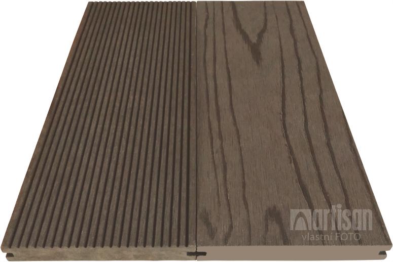 WPC dřevoplastová terasová prkna Dřevoplus Standard - plná 22x140x4000 - Wenge