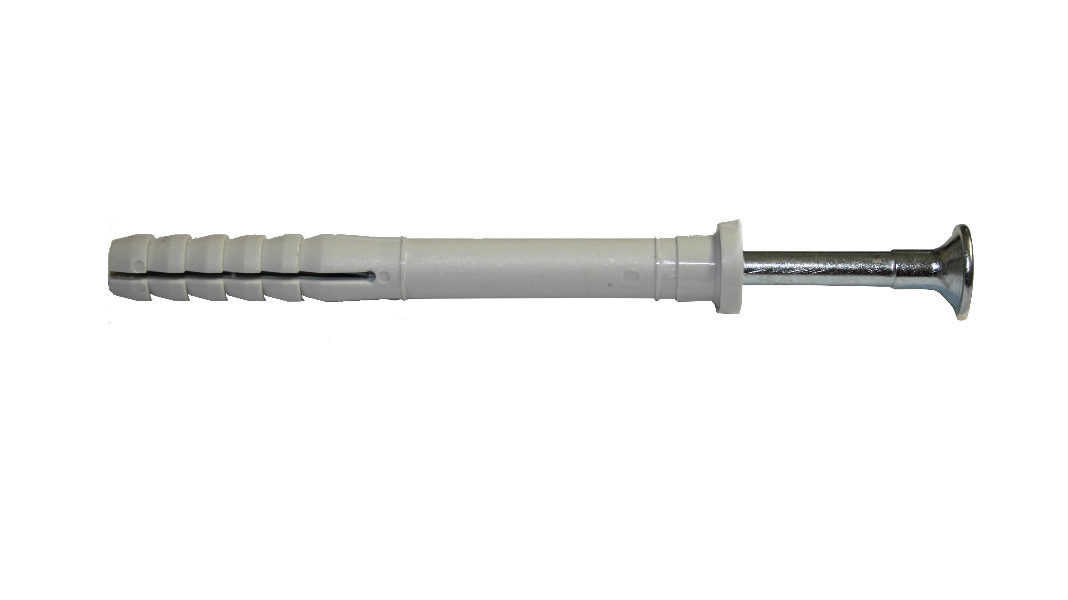 Hmoždinka natloukací 8x75mm plochá, nylon
