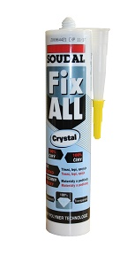 SOUDAL Fix ALL Crystal - lepicí tmel 290ml