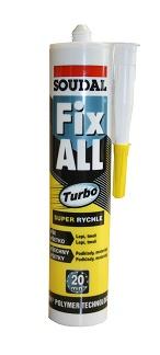 SOUDAL Fix ALL Turbo - lepicí tmel 290ml bílý