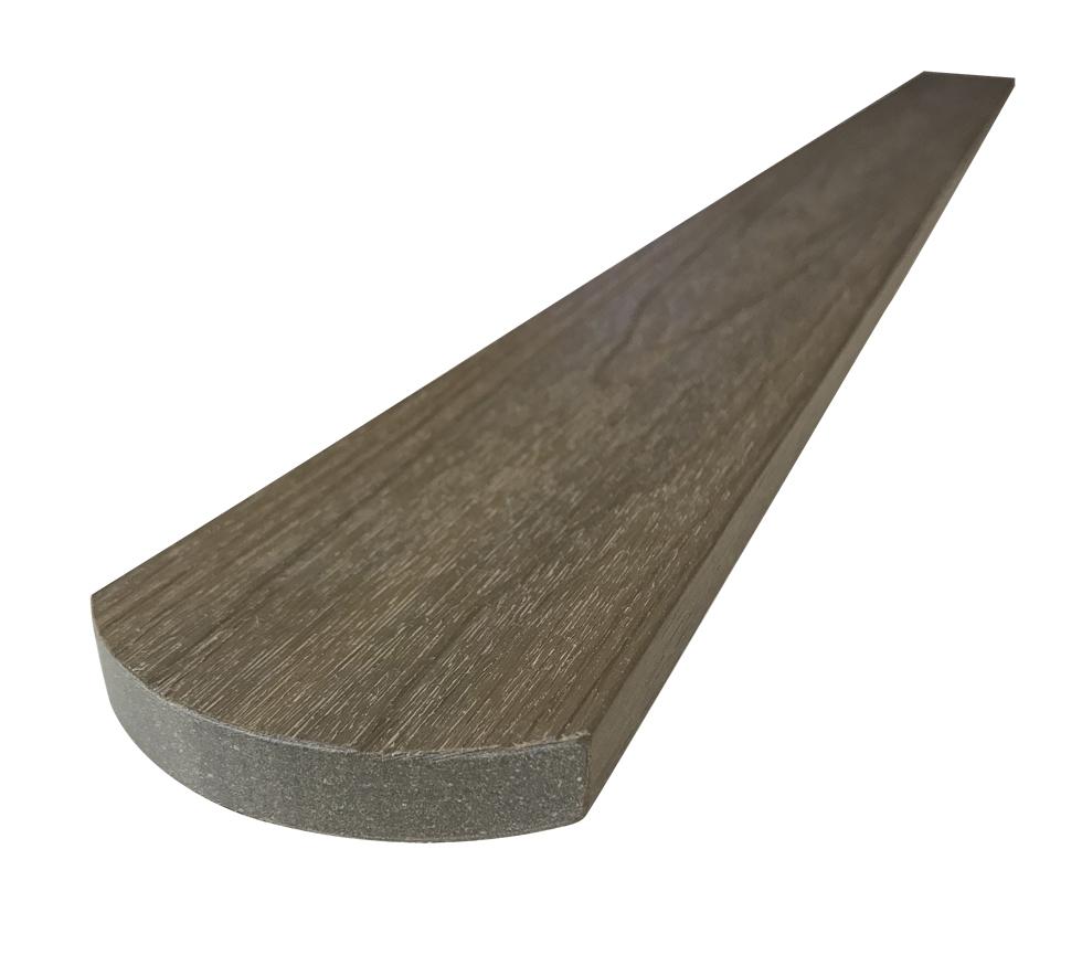 WPC dřevoplastové plotovky Dřevoplus Profi půlkulaté15x80x1500 - Teak