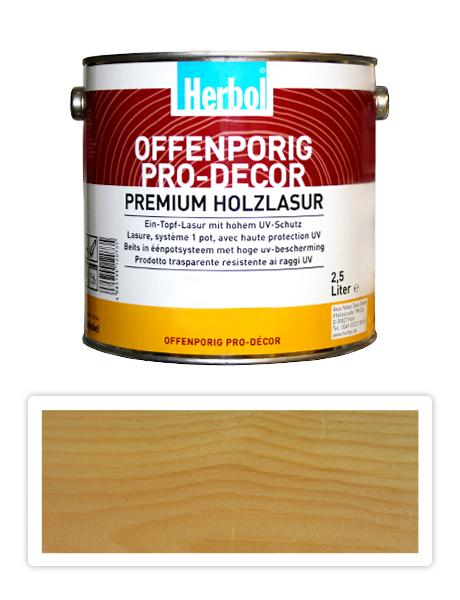 HERBOL Offenporig Pro Decor - univerzální lazura na dřevo 2.5 l Bezbarvá 0450