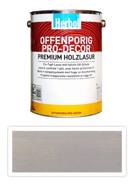 HERBOL Offenporig Pro Decor - univerzální lazura na dřevo 5 l Světle šedá