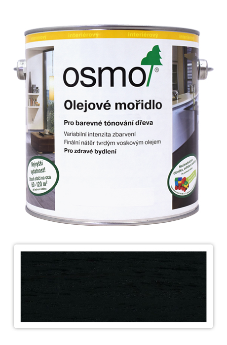 OSMO Olejové mořidlo 2.5 l Černá 3590