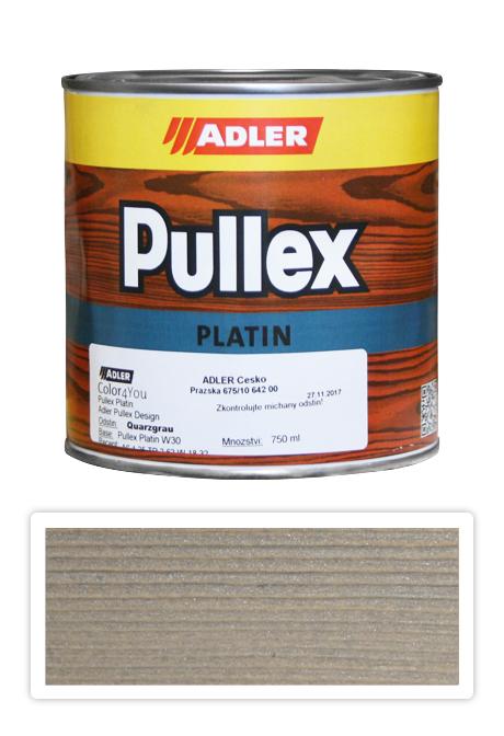 ADLER Pullex Platin 750ml W30 Quarzgrau - lazura na dřevo šedý křemen