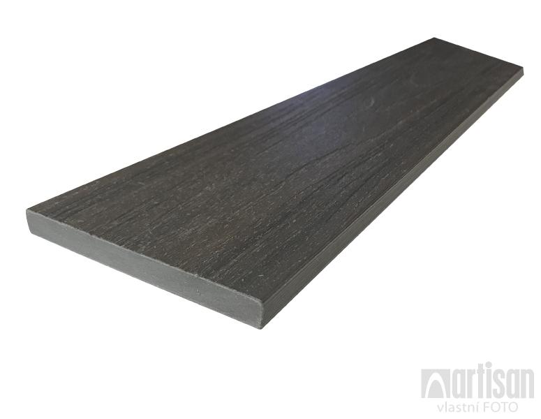 WPC dřevoplastová prkna na plot Dřevoplus Profi 15x138x4000 - Walnut (ořech)