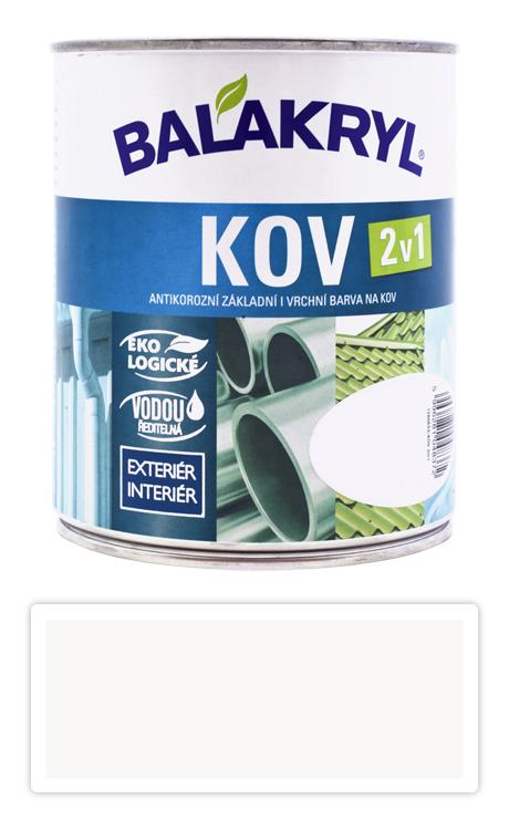 BALAKRYL Kov 2v1 - vodou ředitelná antikorozní barva na kov 0.75 l Bílá 0100