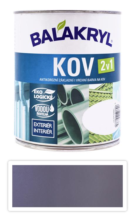 BALAKRYL Kov 2v1 - vodou ředitelná antikorozní barva na kov 0.75 l Pastelově šedá 0101