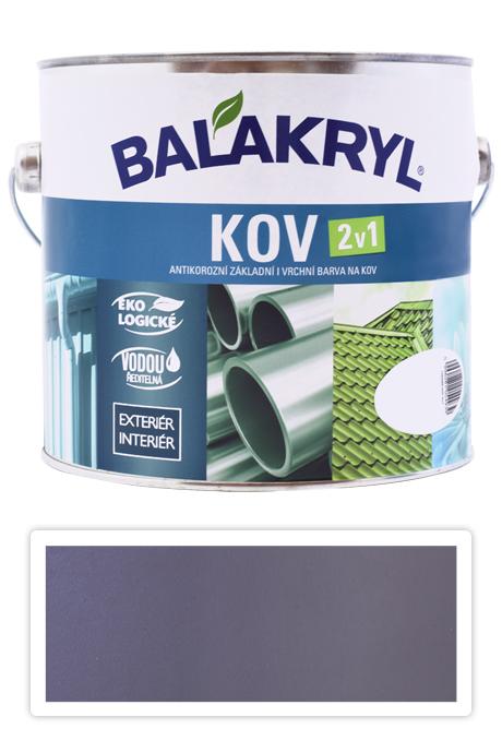 BALAKRYL Kov 2v1 - vodou ředitelná antikorozní barva na kov 2.5 l Pastelově šedá 0101