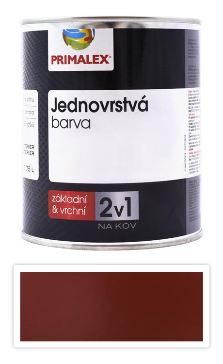 PRIMALEX 2v1 - syntetická antikorozní barva na kov 0.75 l Červenohnědá RAL 8012