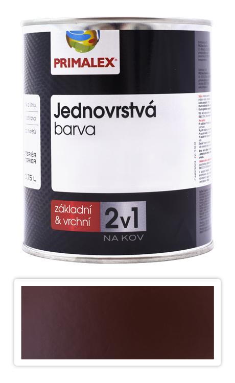 PRIMALEX 2v1 - syntetická antikorozní barva na kov 0.75 l Hnědá RAL 8016