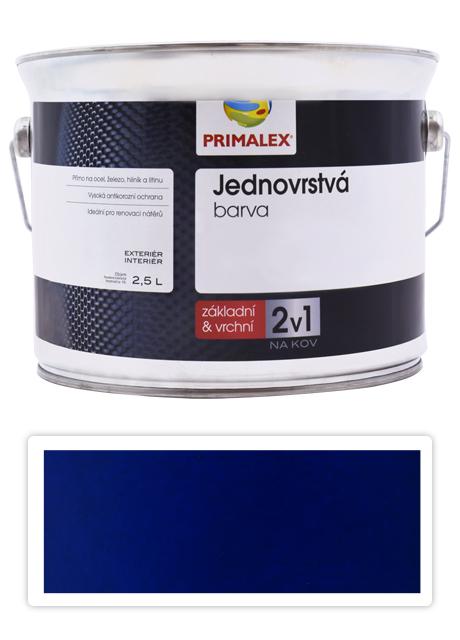 PRIMALEX 2v1 - syntetická antikorozní barva na kov 2.5 l Modrá RAL 5003