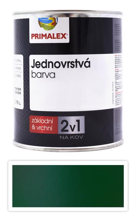 PRIMALEX 2v1 - syntetická antikorozní barva na kov 0.75 l Zelená RAL 6005