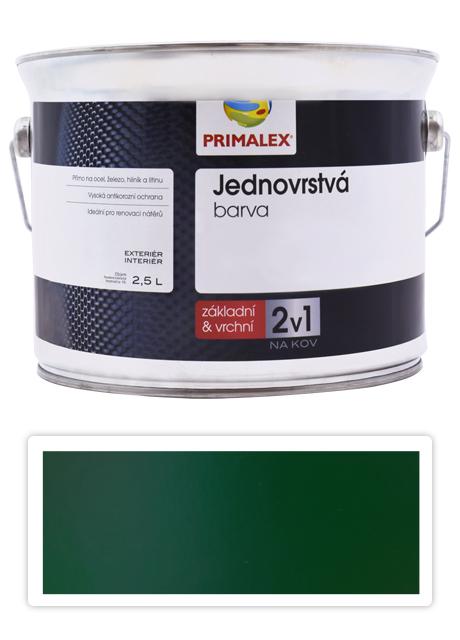 PRIMALEX 2v1 - syntetická antikorozní barva na kov 2.5 l Zelená RAL 6005