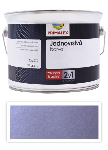 PRIMALEX 2v1 - syntetická antikorozní barva na kov 2.5 l Stříbrná RAL 9006