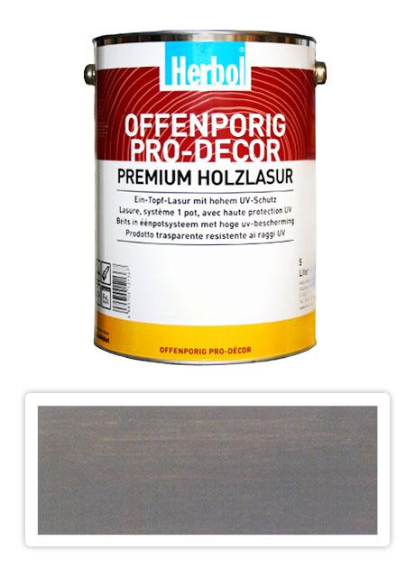HERBOL Offenporig Pro Decor - univerzální lazura na dřevo 5 l Středně šedá