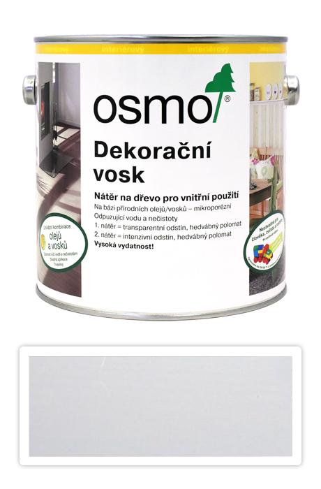 OSMO Dekorační vosk intenzivní odstíny 2.5 l Bílý mat 3186