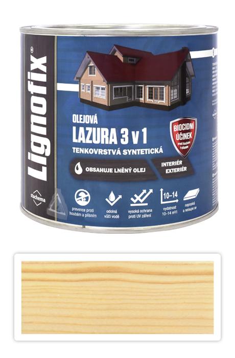 Lignofix LAZURA 3 v 1 - olejová lazura s biocidem 2.2 l Bezbarvá